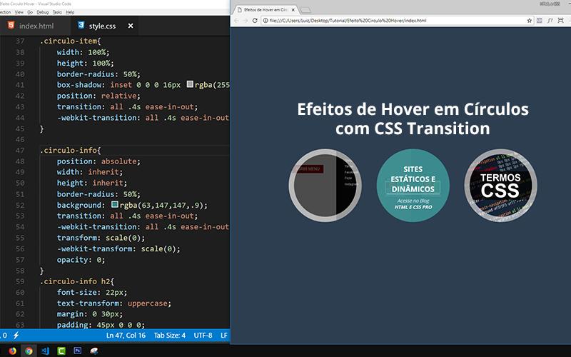 Efeitos de Hover em Círculos com CSS Transition